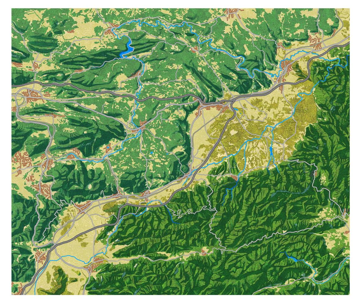 Fond de carte de la vallée