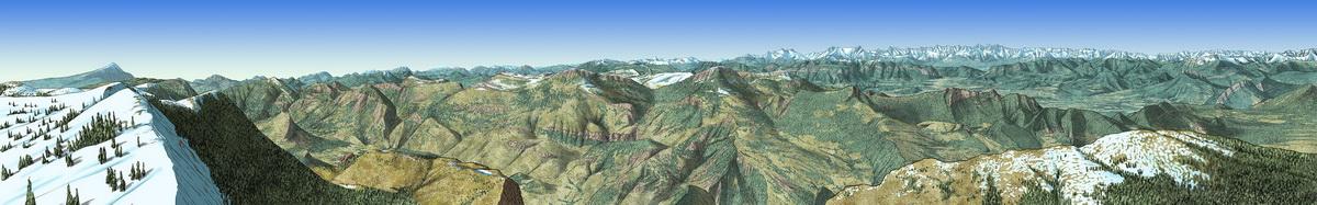 Panorama Montagne de Lure