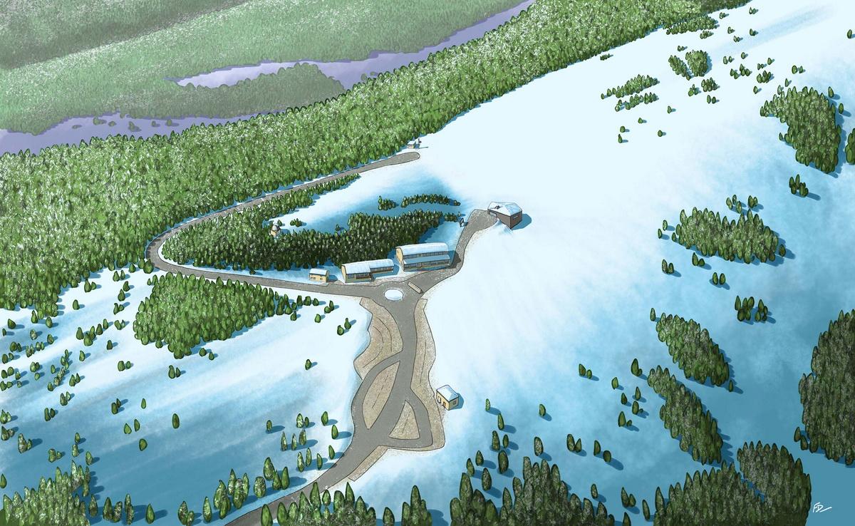 Station de ski l\'hiver